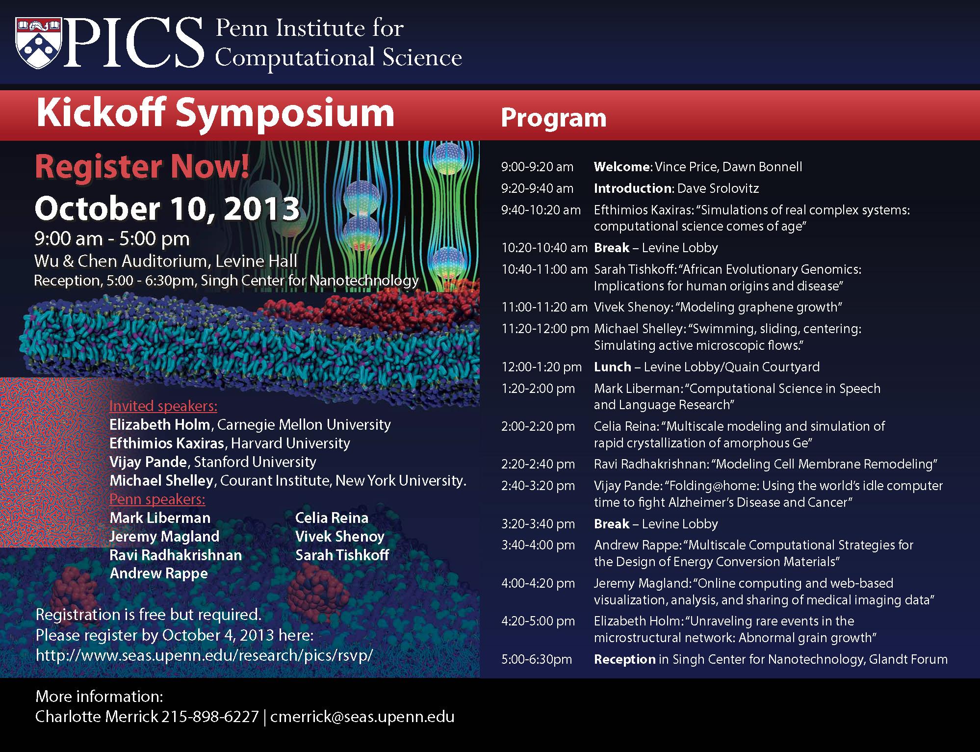 PICS Kickoff Symposium Poster